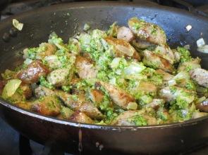 Pesto & sausages