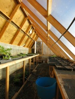 Passive solar heating, vents, and drainage make for a great place to start seeds